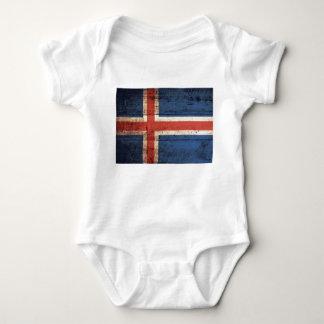 Bandeira de madeira de Islândia T-shirts