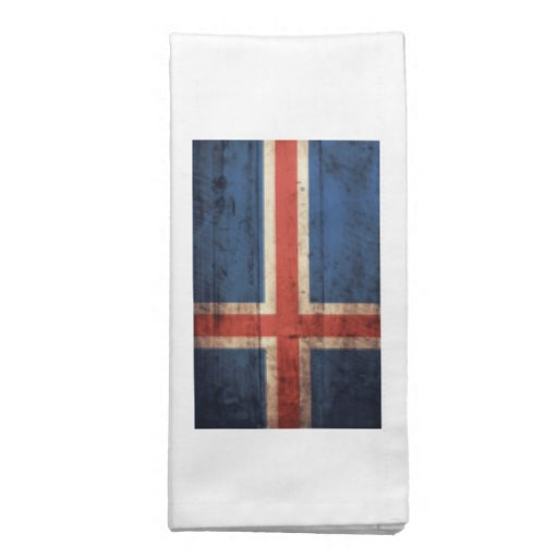 Bandeira de madeira de Islândia Guardanapo De Pano