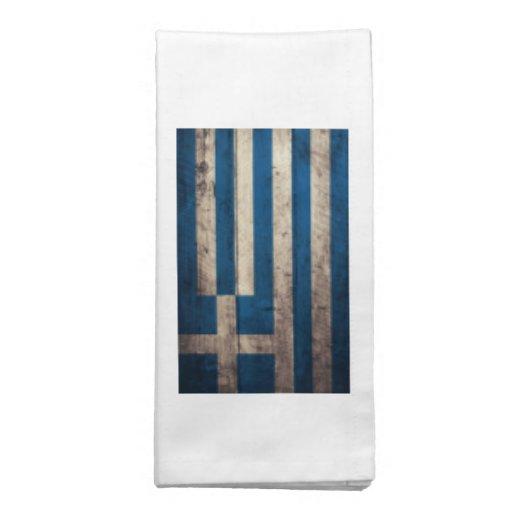Bandeira de madeira velha da piscina guardanapos