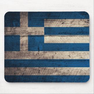 Bandeira de madeira velha da piscina mousepads