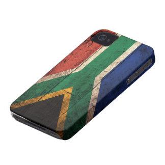Bandeira de madeira velha de África do Sul Capas Para iPhone 4 Case-Mate
