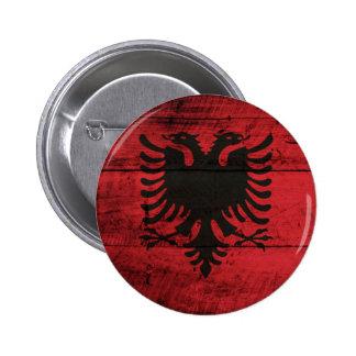 Bandeira de madeira velha de Albânia Pins
