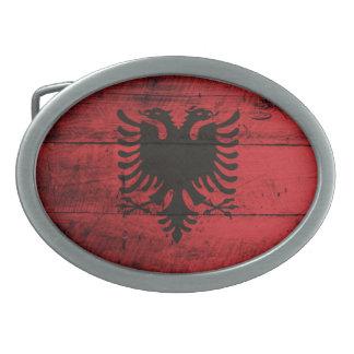Bandeira de madeira velha de Albânia