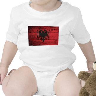 Bandeira de madeira velha de Albânia Babadores