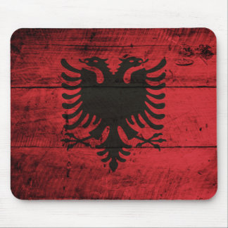 Bandeira de madeira velha de Albânia Mousepad