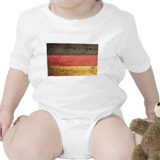 Bandeira de madeira velha de Alemanha Camisetas