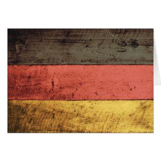 Bandeira de madeira velha de Alemanha Cartão De Nota