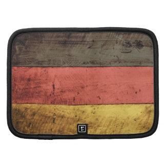 Bandeira de madeira velha de Alemanha Agenda