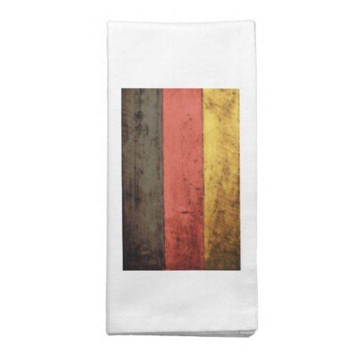 Bandeira de madeira velha de Alemanha Guardanapo Impresso