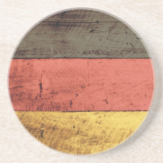 Bandeira de madeira velha de Alemanha Porta Copos