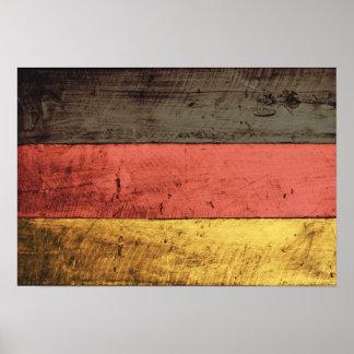 Bandeira de madeira velha de Alemanha Poster