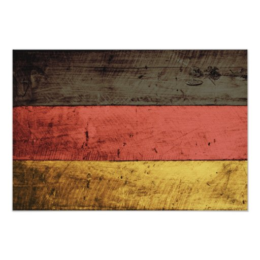 Bandeira de madeira velha de Alemanha Pôsteres