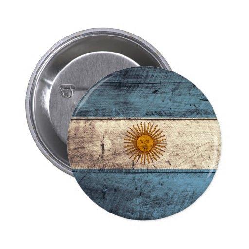 Bandeira de madeira velha de Argentina Boton
