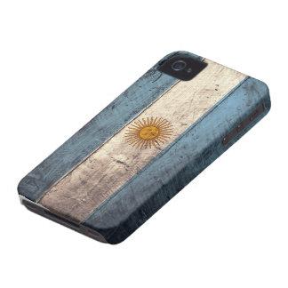 Bandeira de madeira velha de Argentina Capa Para iPhone