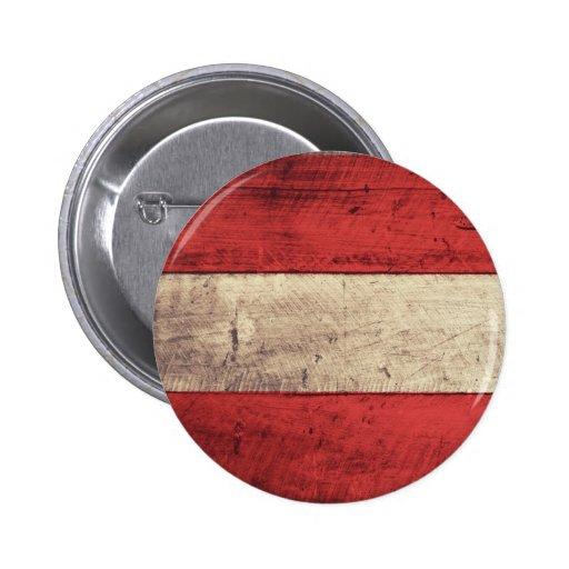 Bandeira de madeira velha de Áustria Boton