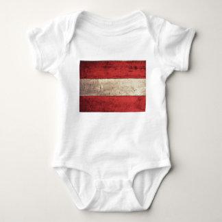 Bandeira de madeira velha de Áustria T-shirt