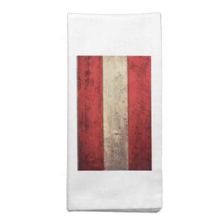 Bandeira de madeira velha de Áustria Guardanapos