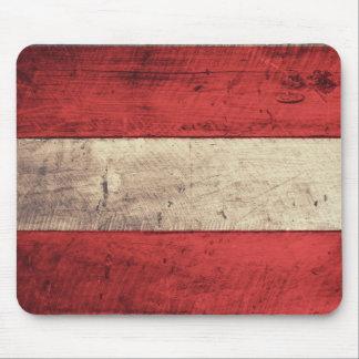 Bandeira de madeira velha de Áustria Mouse Pads