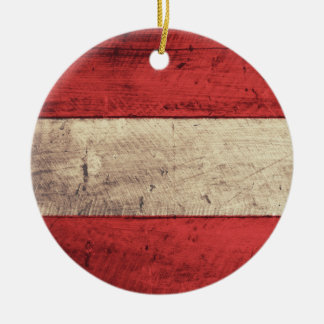 Bandeira de madeira velha de Áustria Ornamentos