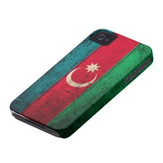 Bandeira de madeira velha de Azerbaijan Capa Para iPhone 4 Case-Mate