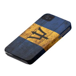 Bandeira de madeira velha de Barbados Capas Para iPhone 4 Case-Mate