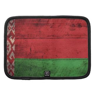 Bandeira de madeira velha de Belarus Agenda