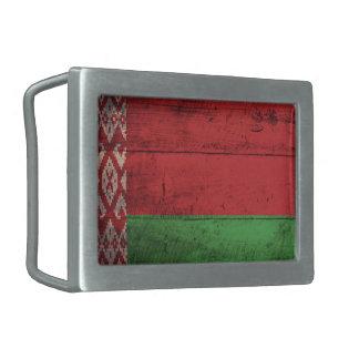 Bandeira de madeira velha de Belarus