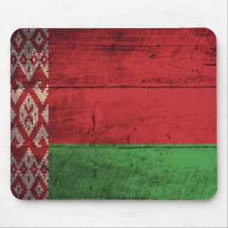 Bandeira de madeira velha de Belarus Mousepad