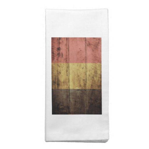 Bandeira de madeira velha de Bélgica Guardanapos