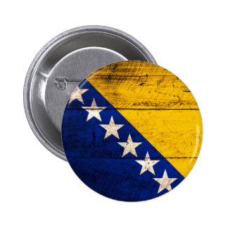 Bandeira de madeira velha de Bósnia Boton