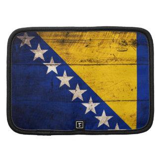Bandeira de madeira velha de Bósnia Organizadores