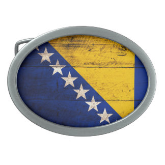 Bandeira de madeira velha de Bósnia