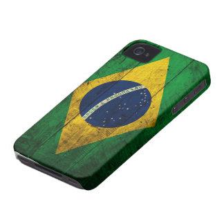 Bandeira de madeira velha de Brasil Capas Para iPhone 4 Case-Mate
