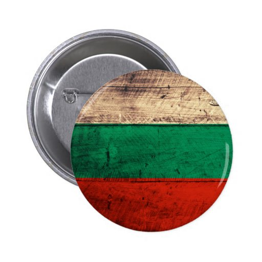 Bandeira de madeira velha de Bulgária Boton