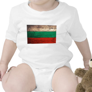 Bandeira de madeira velha de Bulgária Tshirts