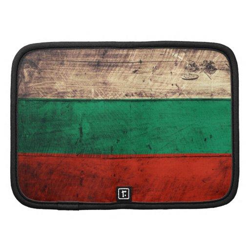 Bandeira de madeira velha de Bulgária Agendas