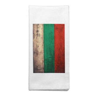 Bandeira de madeira velha de Bulgária Guardanapos Impresso