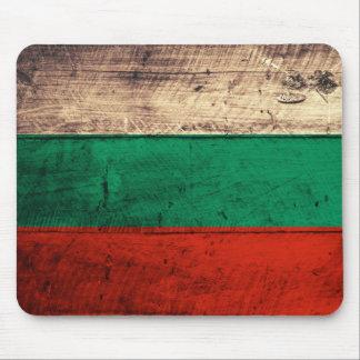 Bandeira de madeira velha de Bulgária Mousepad