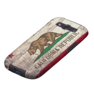 Bandeira de madeira velha de Califórnia Capinha Samsung Galaxy S3
