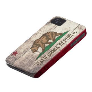 Bandeira de madeira velha de Califórnia Capa Para iPhone 4 Case-Mate