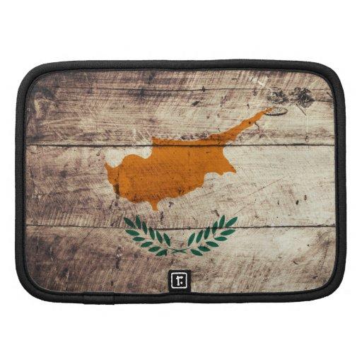 Bandeira de madeira velha de Chipre Organizador