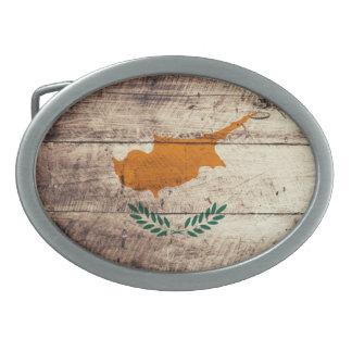 Bandeira de madeira velha de Chipre