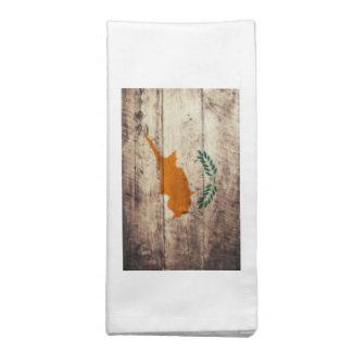 Bandeira de madeira velha de Chipre Guardanapo