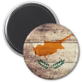 Bandeira de madeira velha de Chipre Imãs De Refrigerador