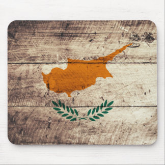 Bandeira de madeira velha de Chipre Mousepad