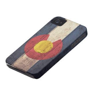 Bandeira de madeira velha de Colorado Capinhas iPhone 4