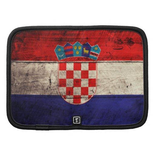 Bandeira de madeira velha de Croatia Organizador