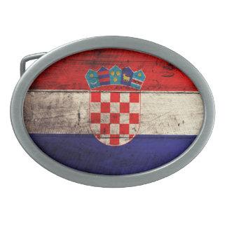 Bandeira de madeira velha de Croatia