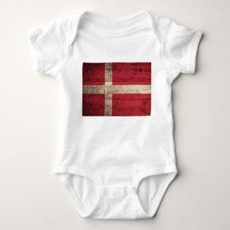 Bandeira de madeira velha de Dinamarca T-shirts