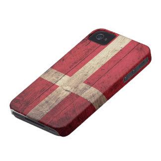 Bandeira de madeira velha de Dinamarca Capinha iPhone 4